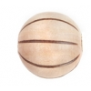 Wood Bead Melon 15mm Natural/Dark Brown